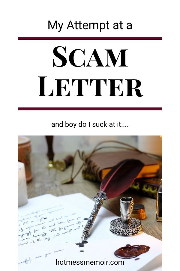 scam letter