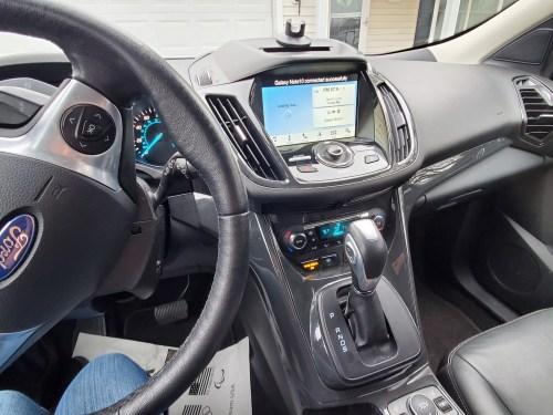inside my new car