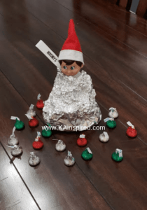 Elf as a hershey kiss
