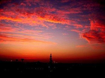 Mosque sunset from my Dubai balcony.