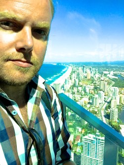 Dan Wilkinson at SkyPoint Observation Deck for Hot & Delicious: Rocks The Planet