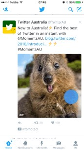 Twitter launch exciting new Twitter Moments in Australia!