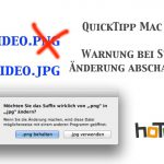 Suffix Warnung in OS X beim Umbenennen der Endung ausschalten