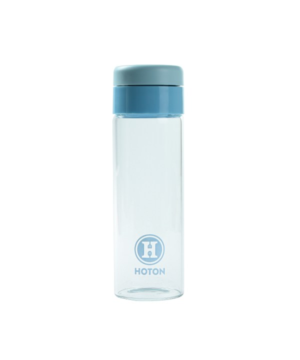 Single Layer Glass with Rotating Cover (Blue)