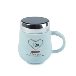Blue Heart Vacuum Cup