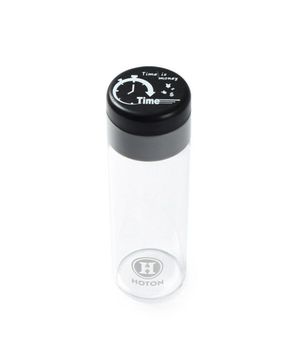 Single Layer Glass with Rotating Cover (Black)