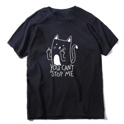 cat with middle finger shirt