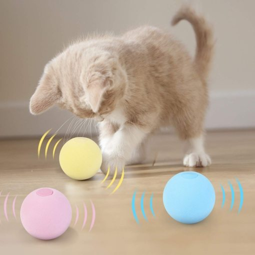 smart interactive cat toy ball