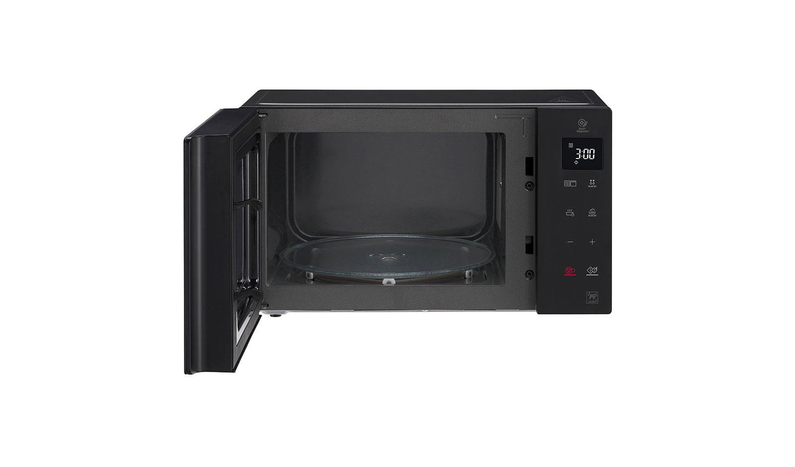 lg mh6336gib microwave oven grill neochef 23l black