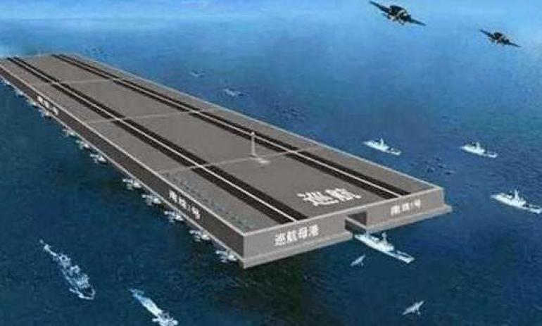 中国超级工程再度启动?排水量50万吨起步,张召忠一预言或将实现