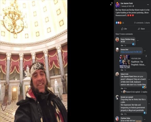 """在约会APP上聊天称""""我真冲进了国会大厦"""",美国男子被FBI逮捕"""