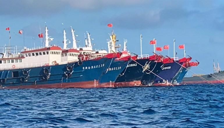 """美国猛打""""人权牌"""",中美新战场博弈激烈,32艘中国渔船惨遭扣押"""