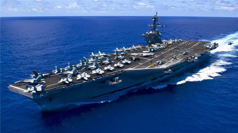 中方要当心了,卡尔文森号部署亚太后,美军激光舰也来了,能实战
