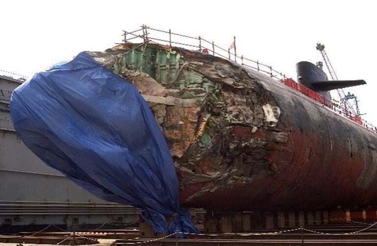 """海军""""旧金山""""号核潜艇事故后的状态"""