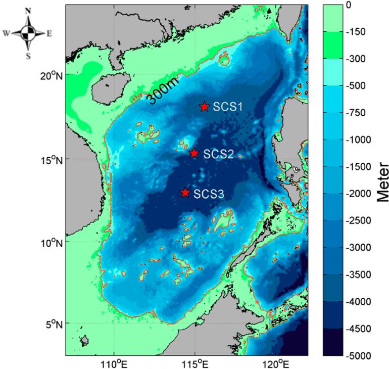 南海深度示意图
