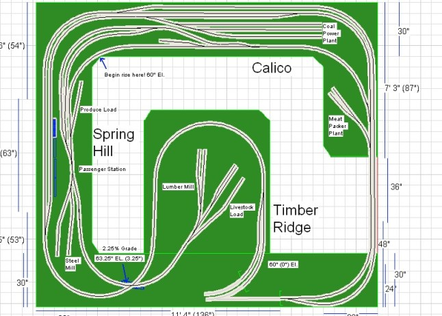 Model Railroad Layout Plans  HO Train Section Layouts