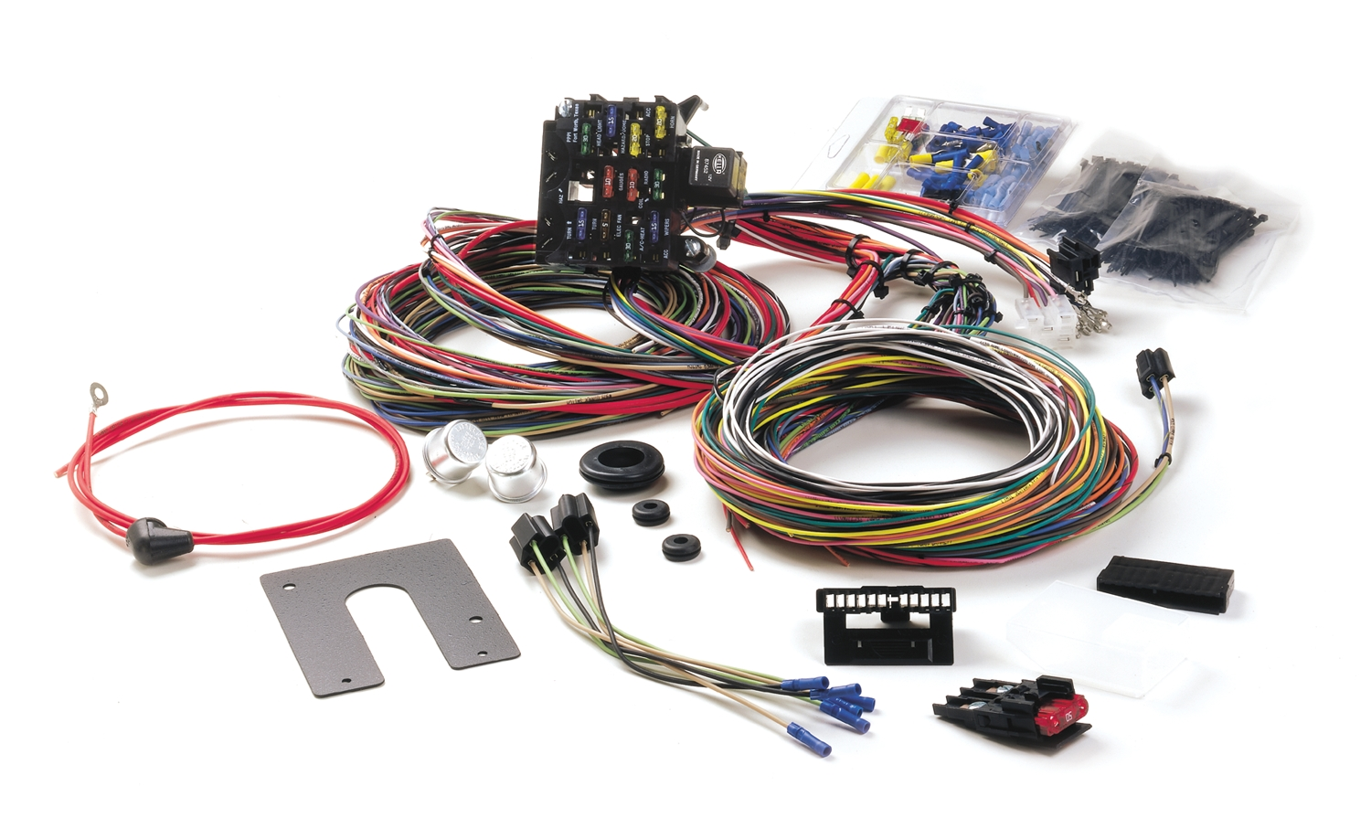how to wire a hot rod diagram kenworth trailer wiring painless performance harness installation in 3939 ford