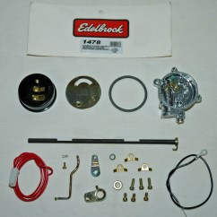 Quadrajet Electric Choke Wiring Diagram Car Stereo Edelbrock Conversion For The Afb Four Barrel By Jim Shown Are All Of Items Included In Kit 1478 Converting Their Manual Equipped Performer Series Carburetors To