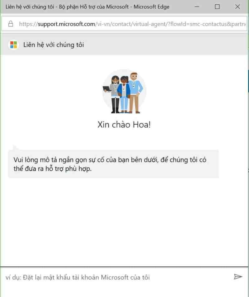Liên hệ Microsoft