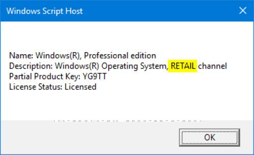 Cấp phép Windows 10 Retail - Hay FPP