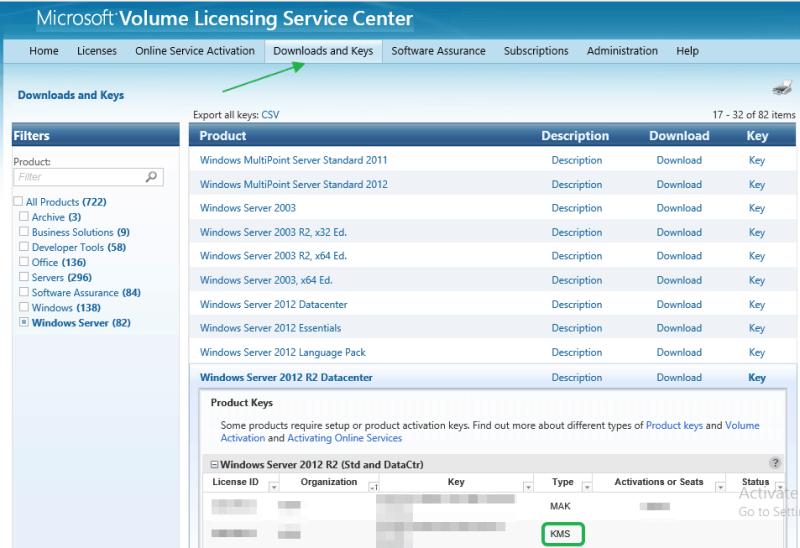 Volume Licensing Service Center