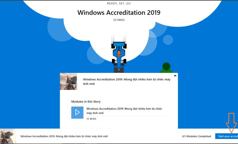 Chứng chỉ Windows Accreditation