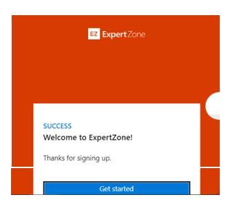 Hoàn thành việc đăng ký ExpertZone