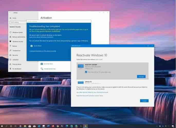 Kích hoạt lại Windows 10