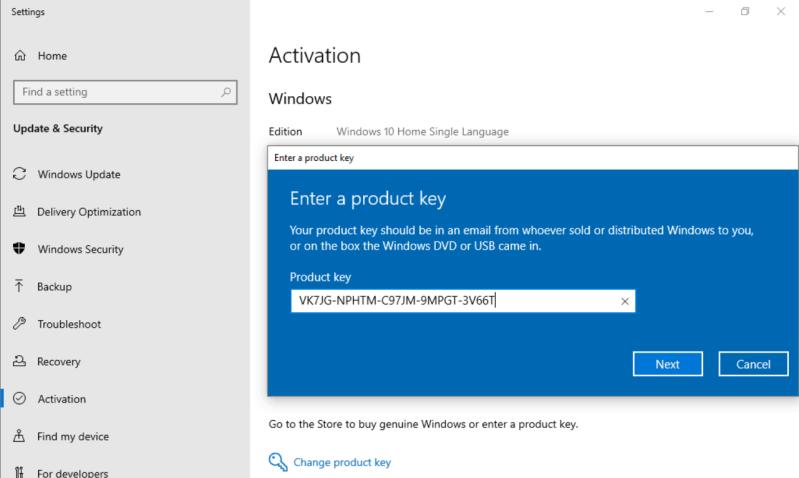 nâng cấp lên Windows 10 Pro