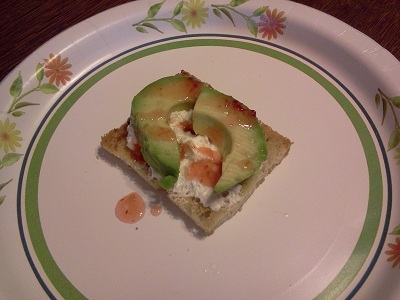 Hot Sauce Recipe – Avocado, Cream Cheese and Sweet Hot Sauce on Grilled Garlic Toast