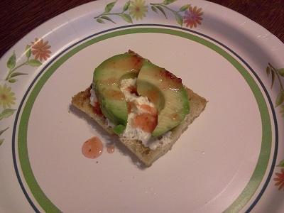 Avocado, Cream Cheese and Hot Sauce on Garlic Toast Recipe
