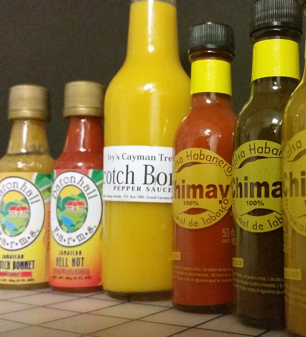 Hot Sauces from Jamaica, Grand Cayman Island and Cozumel