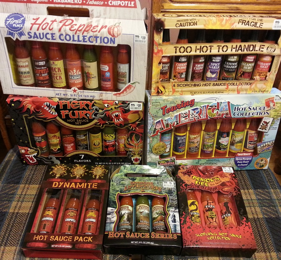 Hot Sauces from Big Lots Christmas 2015