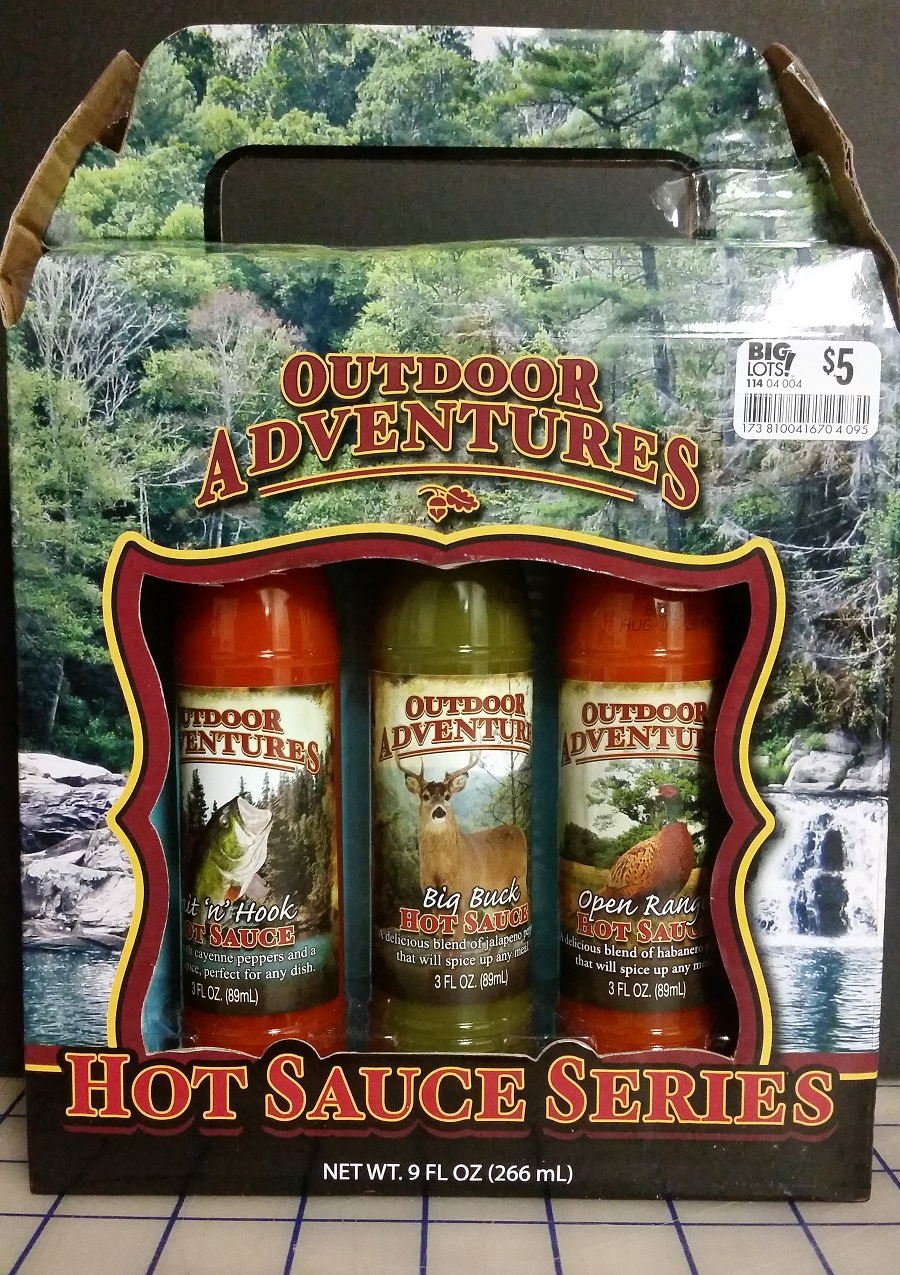 Hot Sauces #340 – 342 – Outdoor Adventures Hot Sauce Collection