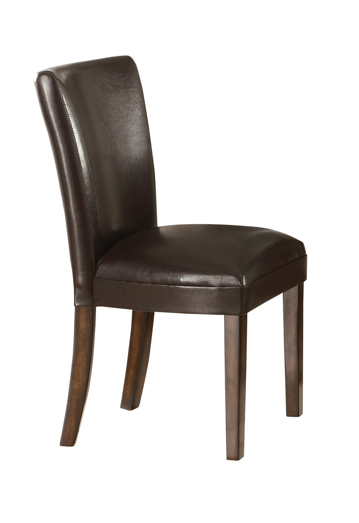 Dining Side Chairs Coaster Upholstered Durable Brown Faux Leather Parsons