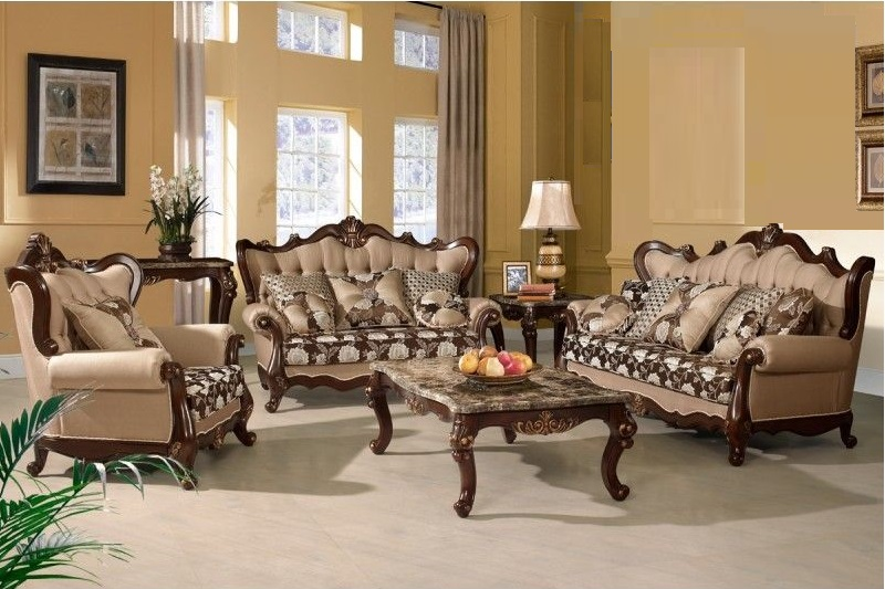 Traditional Style Sofa Love Seat 2pc Set