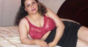 aunty removing bra