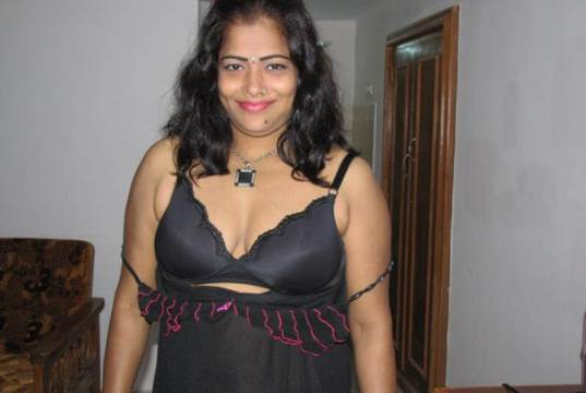 Aunties boobs transparent nighty