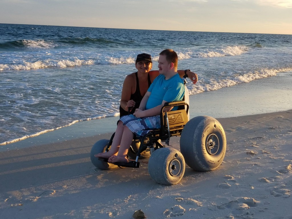 wheelchair hot wheels adjustable over chair table econo kit beach designed by the disabled