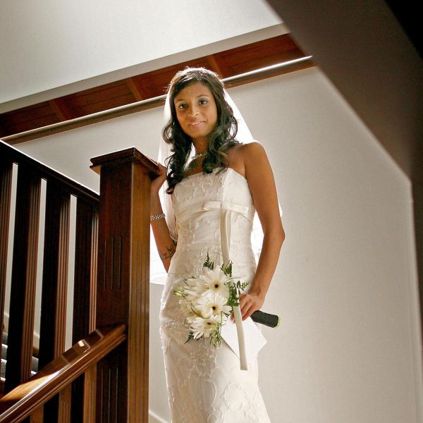 The bride is all ready to meet the groom - by Ian Anderson of Hotshots Photography