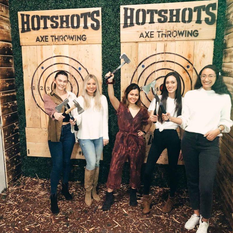 Hotshots Axe Throwing in Tempe Arizona
