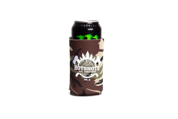 Alt Camo Hotshots Axe Throwing Koozie