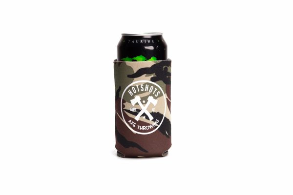 Camo Hotshots Axe Throwing Koozie