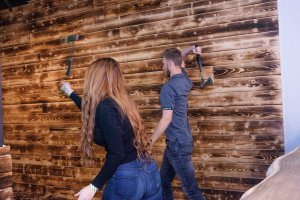 Axe Throwing Benefits - Couple Throwing Axes