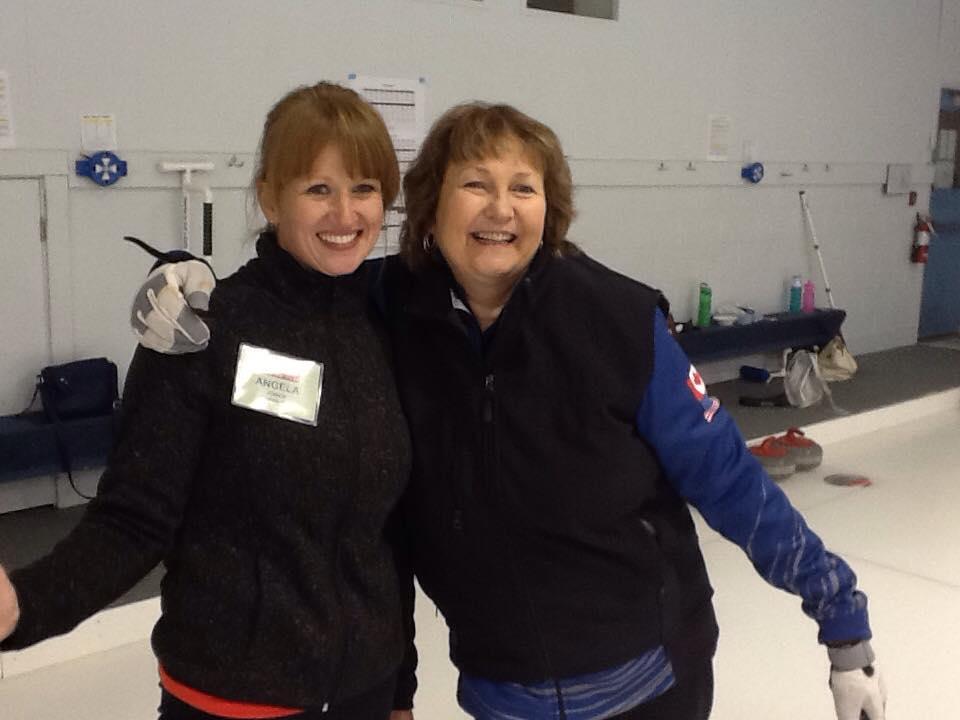 Cindy Bishop and Camper - Hot Shots Curling Camp
