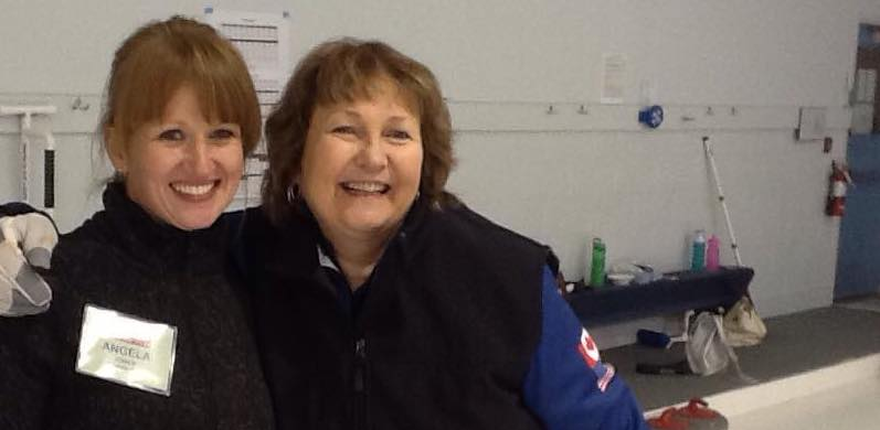 Cindy Bishop and Camper - Hot Shots Curling Camp