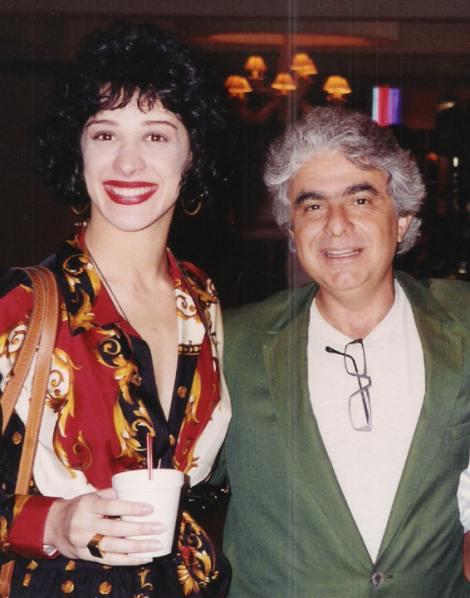 Claudia Raia e Phydias, em Miami, na gravação da novela Deus Nos Acuda jpg