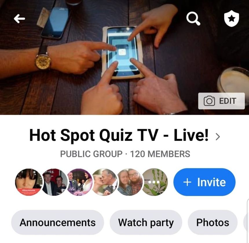 Hot Spot Quiz TV Live! - FB Group