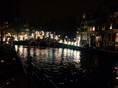Amsterdam Light Festival art on canals