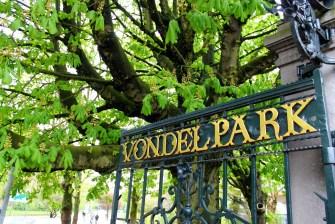 Entrance of Vondelpark Amsterdam